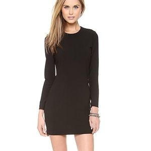 IRO Gaia Long Sleeve Leather Trim Dress 34 (XS)